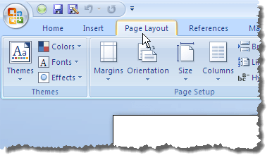 04 clicking page layout tab 2007