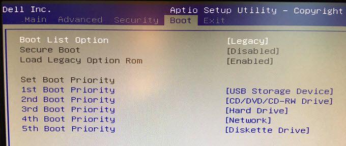 1607876322 436 Comment changer la sequence de demarrage dans le BIOS