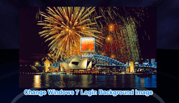 Comment changer limage darriere plan de lecran de connexion Windows 7