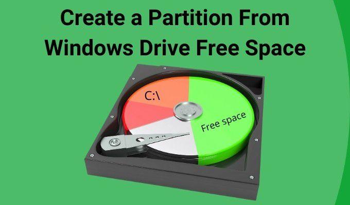 Comment creer une partition a partir de lespace libre du
