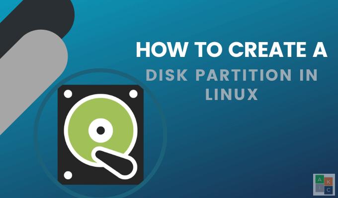 Comment creer une partition de disque