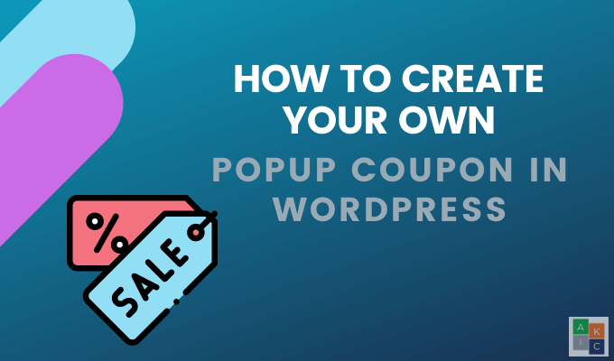 Comment creer votre propre pop up de coupon dans WordPress