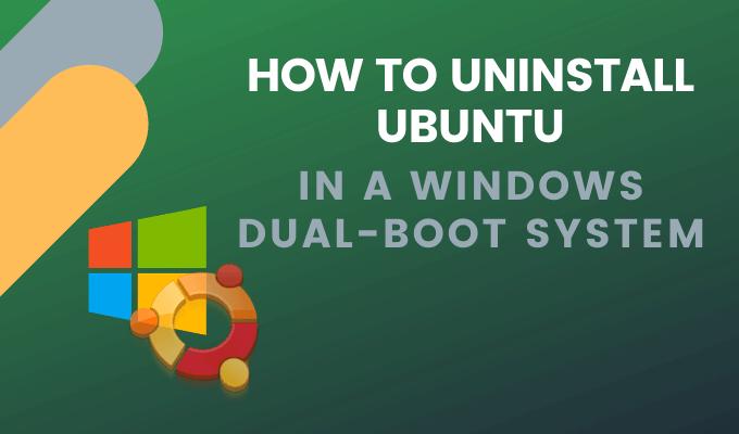 Comment desinstaller Ubuntu dans un systeme Windows 10 a double