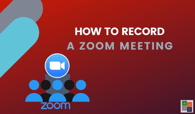 Comment enregistrer une reunion Zoom