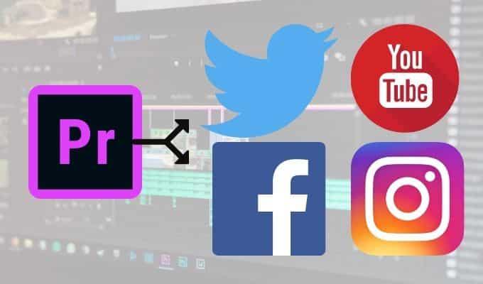 Comment exporter des videos de Premiere Pro vers les medias