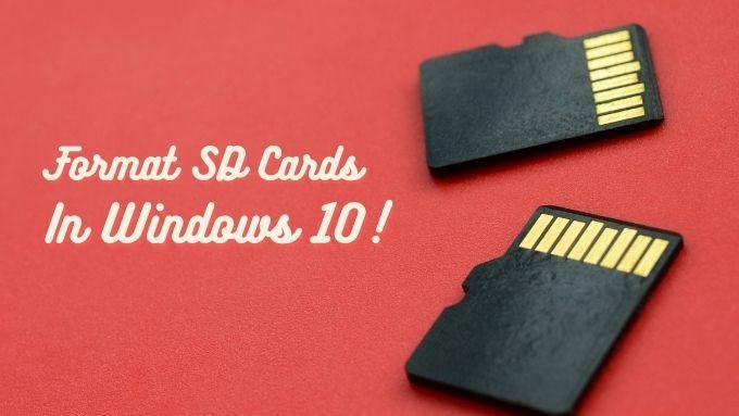Comment formater une carte SD sous Windows 10