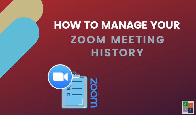 Comment gerer lhistorique de vos enregistrements Zoom