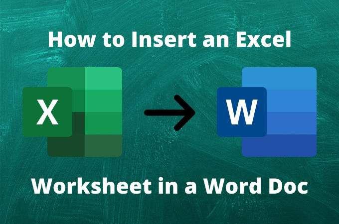 Comment inserer une feuille de calcul Excel dans un document