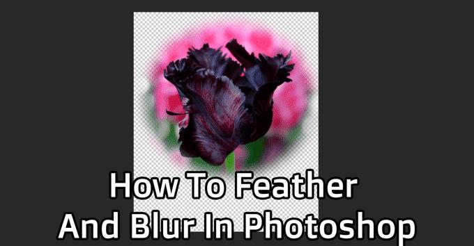 Comment plier et flouter dans Photoshop