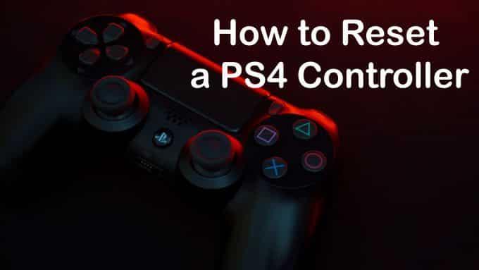 Comment reinitialiser un controleur PS4