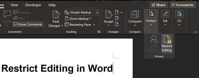 Comment restreindre la modification des documents Word