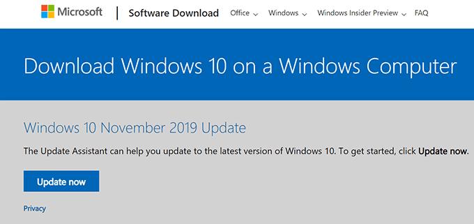 Comment telecharger Windows 10 ISO sans loutil de creation multimedia