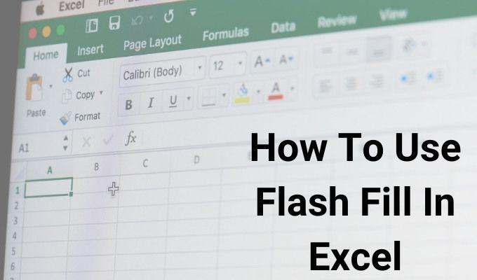 Comment utiliser le remplissage Flash dans