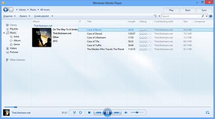 Desinstaller Windows Media Player de Windows 7