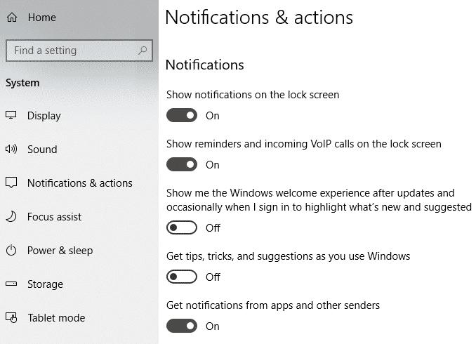 Empecher les notifications contextuelles dapparaitre sur votre bureau Windows
