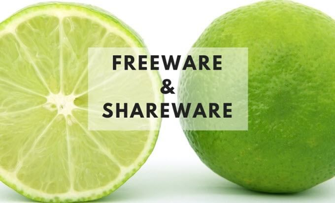 Freeware contre Shareware Quelle est la difference