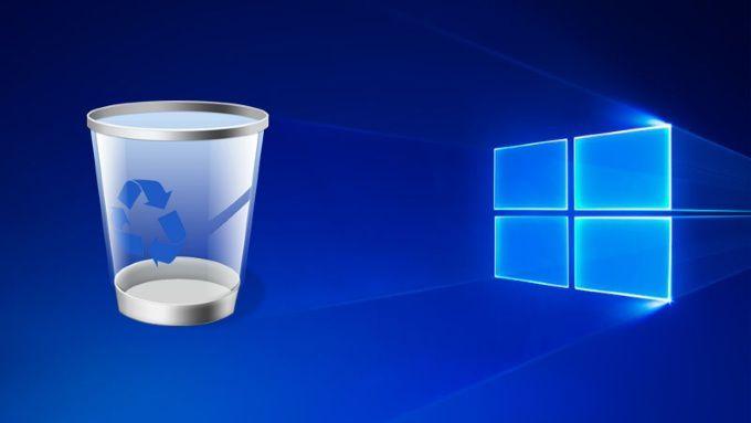 Modifier les parametres de la corbeille dans Windows 10
