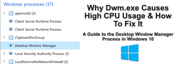 Pourquoi Dwm.exe provoque une utilisation élevée du processeur et comment y remédier