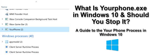 Quest ce que YourphoneExe dans Windows 10 et si vous larretez