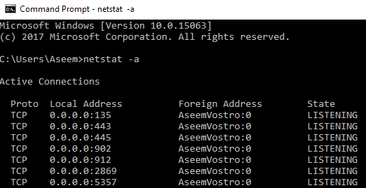Utilitaires TCP IP Windows Netstat Tracert IPconfig NSlookup